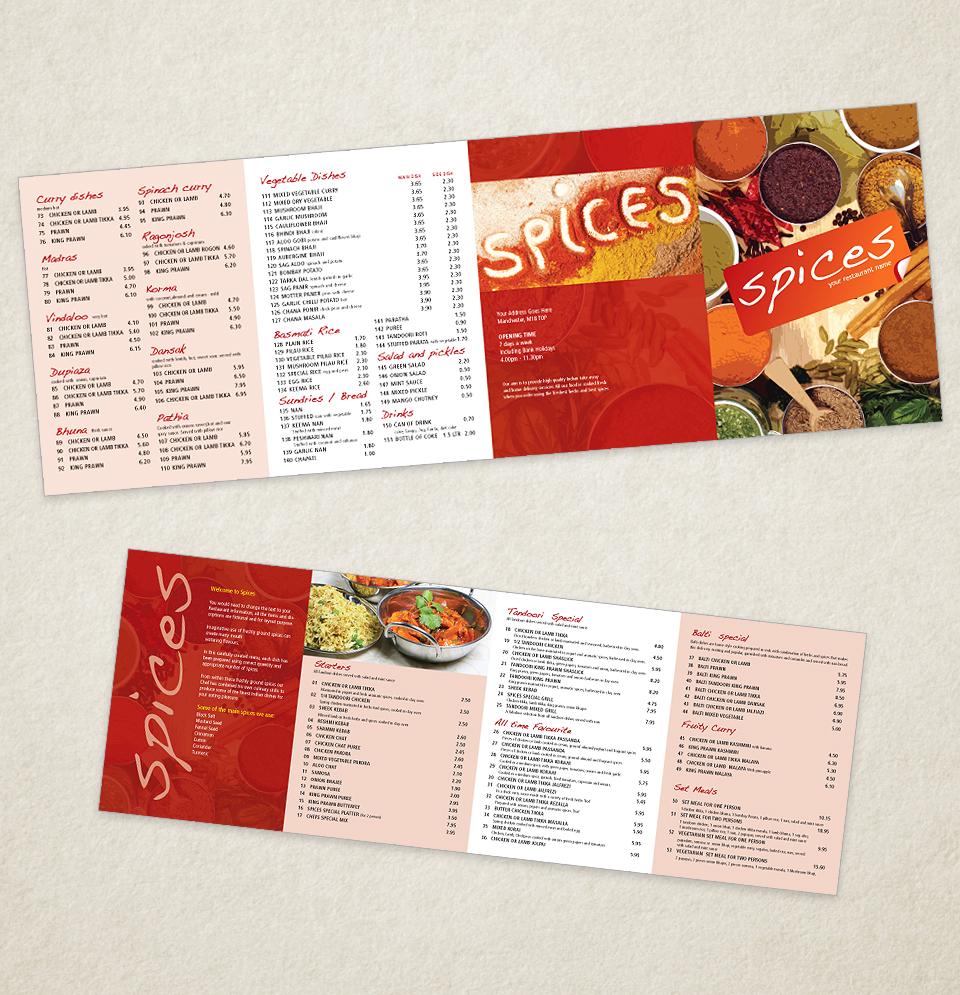 Indian Restaurant Menu Template Designs - | Indian Restaurant ...